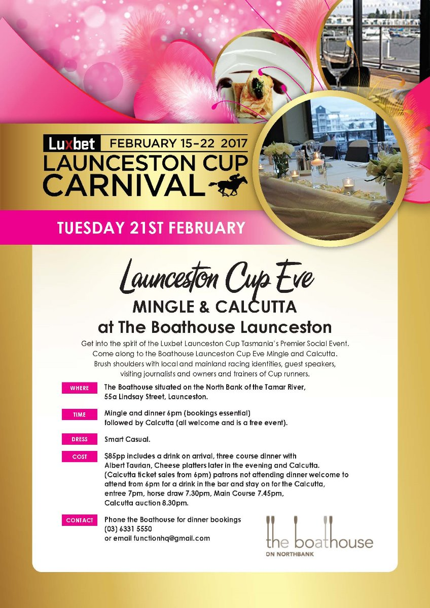 Luxbet Launceston Cup Eve Mingle & Calcutta
