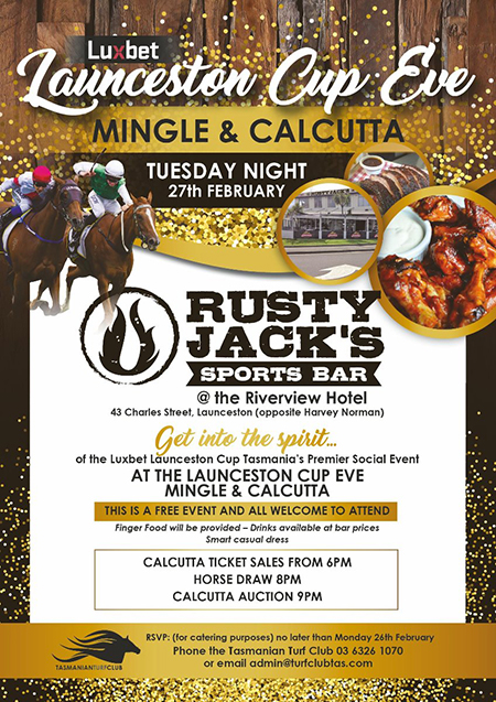 Launceston Cup Eve Mingle & Calcutta